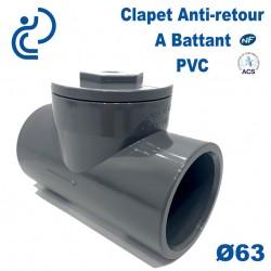 Clapet Anti-retour à Battant PVC Ø63 à coller PN10
