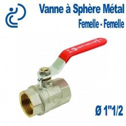 "Vanne A Sphère Laiton Femelle-Femelle 1""1/4"