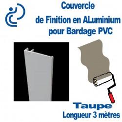 Couvercle Aluminium de finition Couleur Taupe longueur 3ml Pour bardage PVC