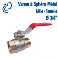 """Vanne A Sphère Laiton Mâle-Femelle 3/4"""""""