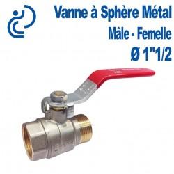 """Vanne A Sphère Laiton Mâle-Femelle 1""""1/2"""