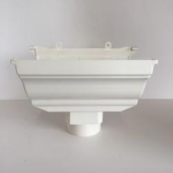 NAISSANCE CENTRALE A COLLER EN PVC BLANC POUR GOUTTIERE TRADITION