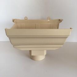 NAISSANCE GAUCHE A COLLER EN PVC SABLE POUR GOUTTIERE TRADITION