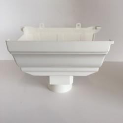 NAISSANCE GAUCHE A COLLER EN PVC BLANC POUR GOUTTIERE TRADITION