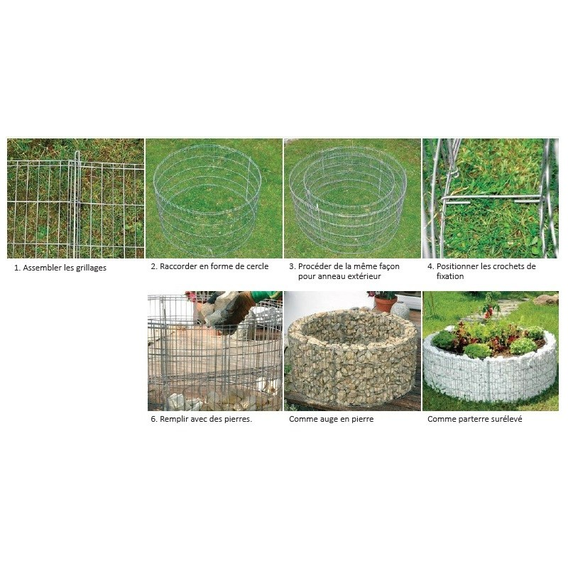 gabion decoratif jardini re ronde 146x40cm. Black Bedroom Furniture Sets. Home Design Ideas