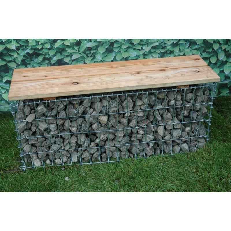 gabion decoratif banc de jardin 100x30x46. Black Bedroom Furniture Sets. Home Design Ideas