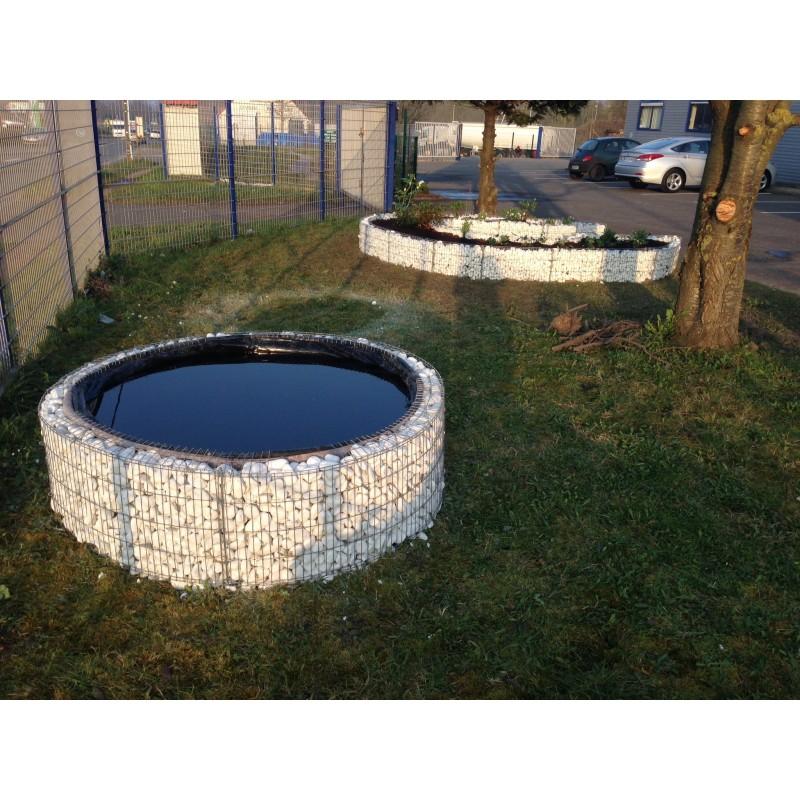 Gabion decoratif bassin sur lev 146x40cm for Bassin decoratif