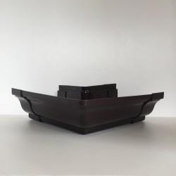 ANGLE EXTERIEUR A COLLER EN PVC MARRON POUR GOUTTIERE TRADITION