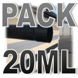 PACK 20ML TUBE DESCENTE PVC NOIR D100 (5 longueurs de 4ml)