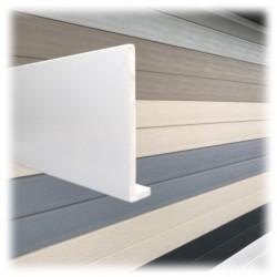 PLANCHE DE RIVE A CLOUER PVC BLANC en L Ep9 H175 longueur de 5ml