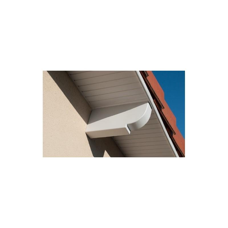 Lambris pvc de sous toiture blanc planches de 25cmx4ml for Lame pvc sous toiture