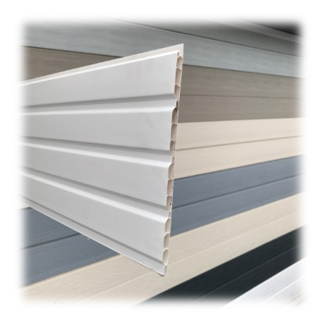 Lambris pvc de sous toiture blanc planches de 25cmx4ml - Pose lambris pvc sous toiture video ...