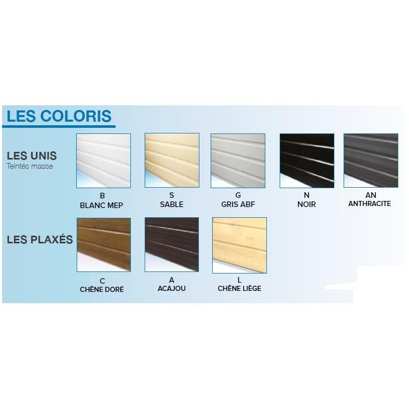 Lambris pvc de sous toiture noir planches de 25cmx4ml - Lambris pvc de couleur ...