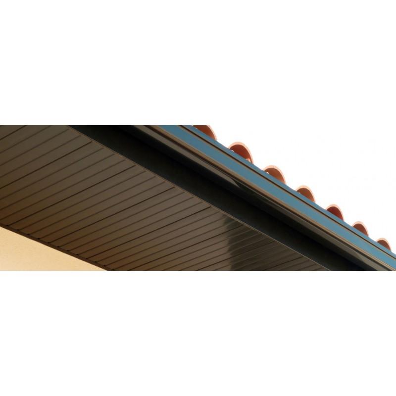 lambris pvc de sous toiture noir planches de 25cmx4ml. Black Bedroom Furniture Sets. Home Design Ideas