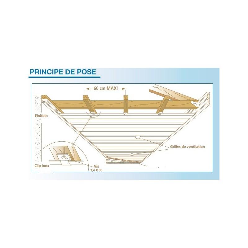 lambris pvc de sous toiture ch ne planches de 30cmx5ml. Black Bedroom Furniture Sets. Home Design Ideas