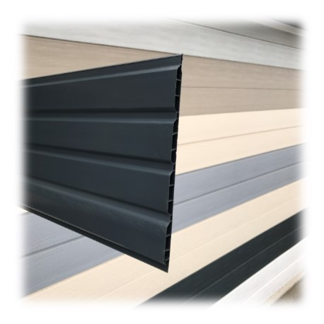 Lambris pvc de sous toiture anthracite planches de 25cmx4ml for Lame pvc sous toiture
