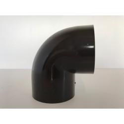 COUDE GOUTTIERE PVC MARRON D60