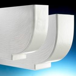 PROTEGE PANNE PVC BLANC nervuré bois ep 80 Lg 600