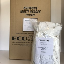 Chiffons Multi Usages 100% Coton Box de 10Kg