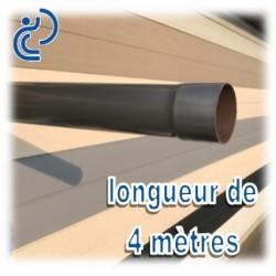 TUBE DESCENTE GOUTTIERE PVC D80