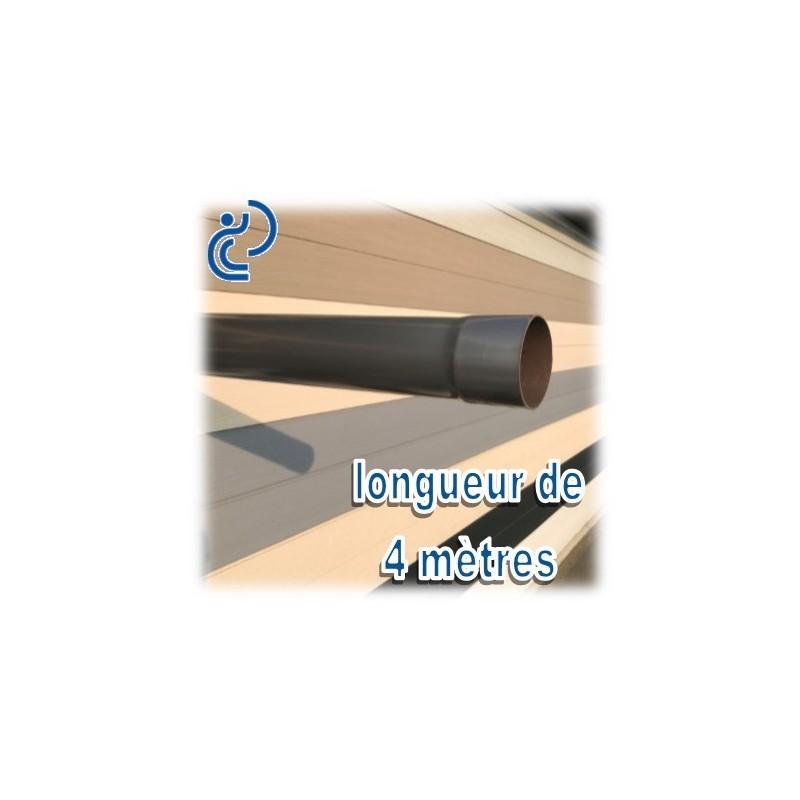 tube descente de goutti re d80 aspect zinc longueur de 4ml. Black Bedroom Furniture Sets. Home Design Ideas