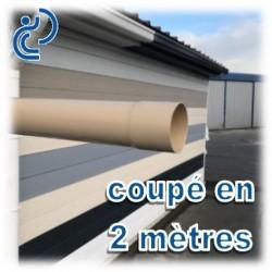TUBE DESCENTE GOUTTIERE PVC D100 SABLE en longueur de 2ml