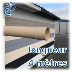 TUBE DESCENTE GOUTTIERE PVC D100 SABLE en longueur de 4ml