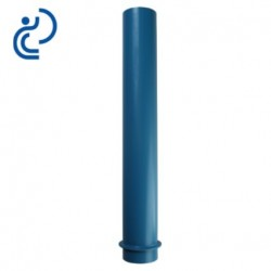 Tube fourreau à collerette 820/855 mm en PVC bleu
