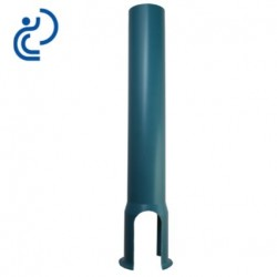 Tube tabernacle 1000 mm sans embase en PVC bleu
