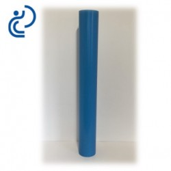 Tube allonge lisse 1000 mm en PVC bleu