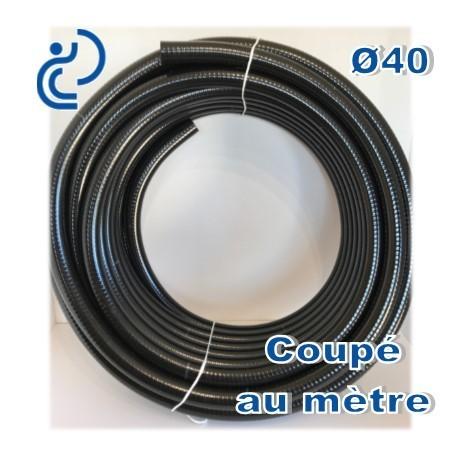 Tuyau Pvc Souple Renforcé Opal Poolhose D40 Coupé Au Mètre