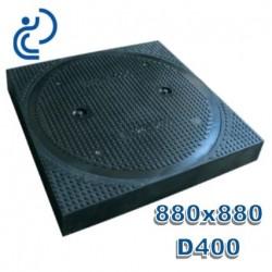 Regard de visite Rond D400 avec cadre 880x880 Composite
