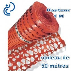 Grille de Balisage Orange 1mx50ml