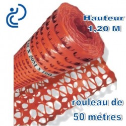 Grille de Balisage Orange 1,20mx50ml