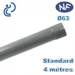 TUBE PVC NF D63 4ml