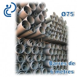 Gaine Tram Compact PVC-U D75 barres de 6ml