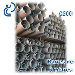 Gaine Tram Compact PVC-U D200 barres de 6ml