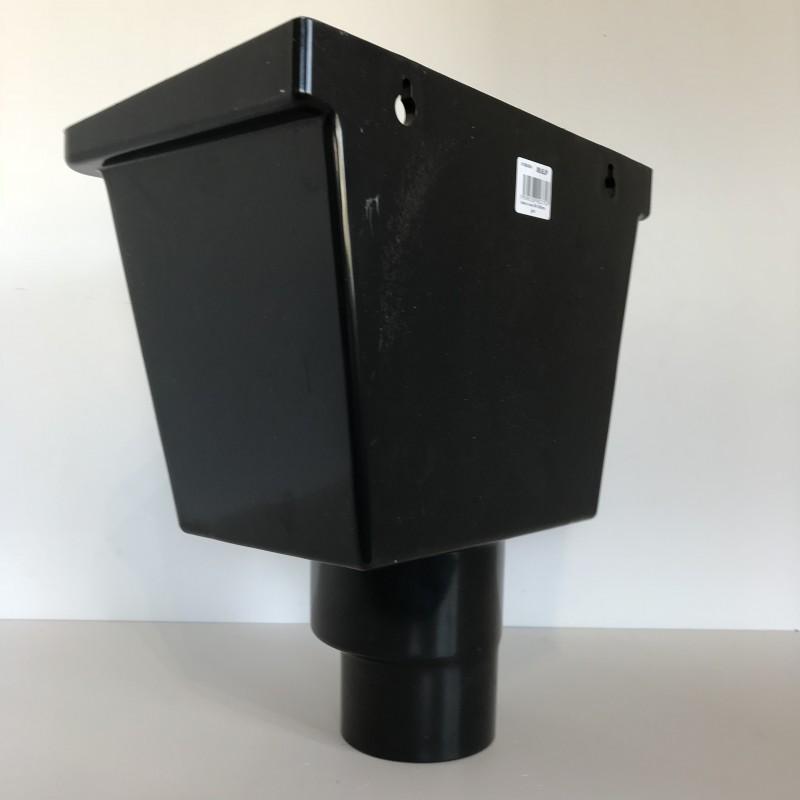 bo te eau pvc universelle noire 80 100. Black Bedroom Furniture Sets. Home Design Ideas