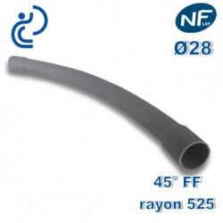 COURBE PVC NFLST 45° D28 R525 FF