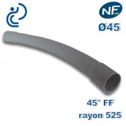 COURBE PVC NFLST 45° D45 R525 FF