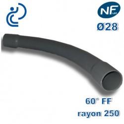 COURBE PVC NFLST 60° D28 R250 FF