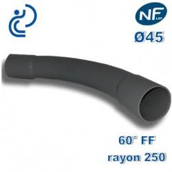 COURBE PVC NFLST 60° D45 R250 FF