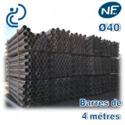 Tube PVC compact NF M1 D40 barres de 4ml