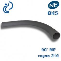 COURBE PVC NFLST 90° D45 R210 MF