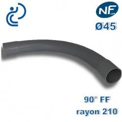 COURBE PVC NFLST 90° D45 R210 FF