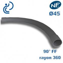 COURBE PVC NFLST 90° D45 R360 FF