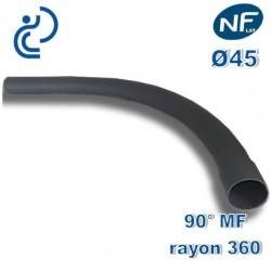 COURBE PVC NFLST 90° D45 R360 MF