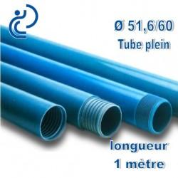 Tube Forage PVC 51.6/60 Plein A visser longueur 1ml
