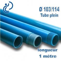 Tube Forage PVC 103/114 Plein A visser longueur 1ml