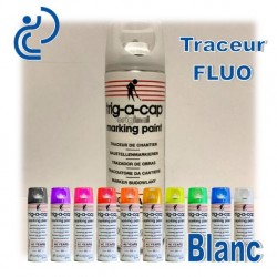 Traceur Chantier Fluo Blanc 500ml